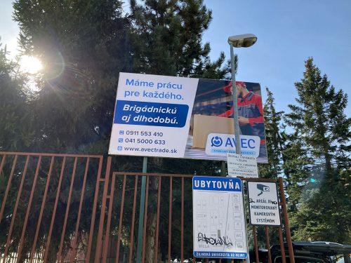 Reklamné tabule Žilina